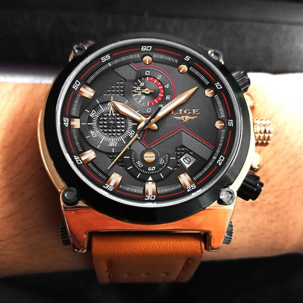 Relojes hombre LIGE Mens Watches Top Brand Luxury Casual Sports ...