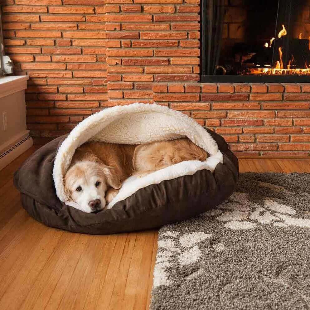 Large Hot Fudge Luxury Microsuède 89 cm Cave dog