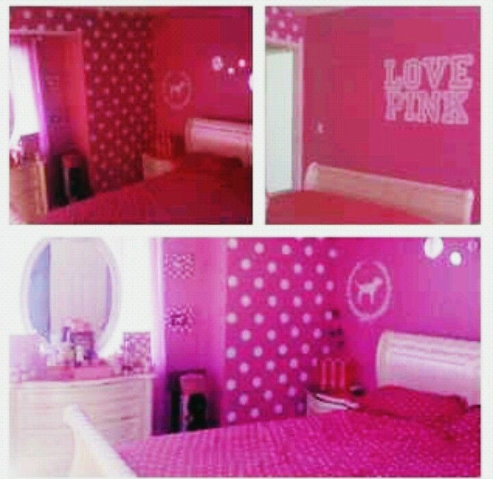 Victoria S Secret Pink Bedroom I Wanna Do This If Not For My Maybe A Bathroom Or Closet