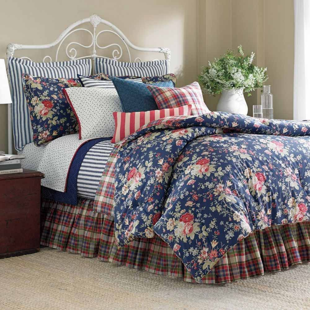 149 New Chaps By Ralph Lauren Cape Cod 3pc Queen Comforter Set In Home Garden Bedding Comforters Sets Ebay Bauernhaus Bett Bett Ideen Bettwäsche