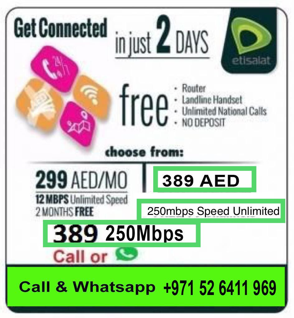 Etisalat Special offers Elife Home 2 Months