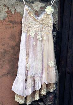 Moondance whimsy bohemian dress long floaty by FleursBoheme