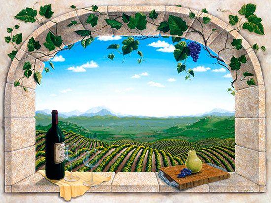 To A Good Harvest via MuralsYourWay Murals Pinterest - Peinture Porte Et Fenetre