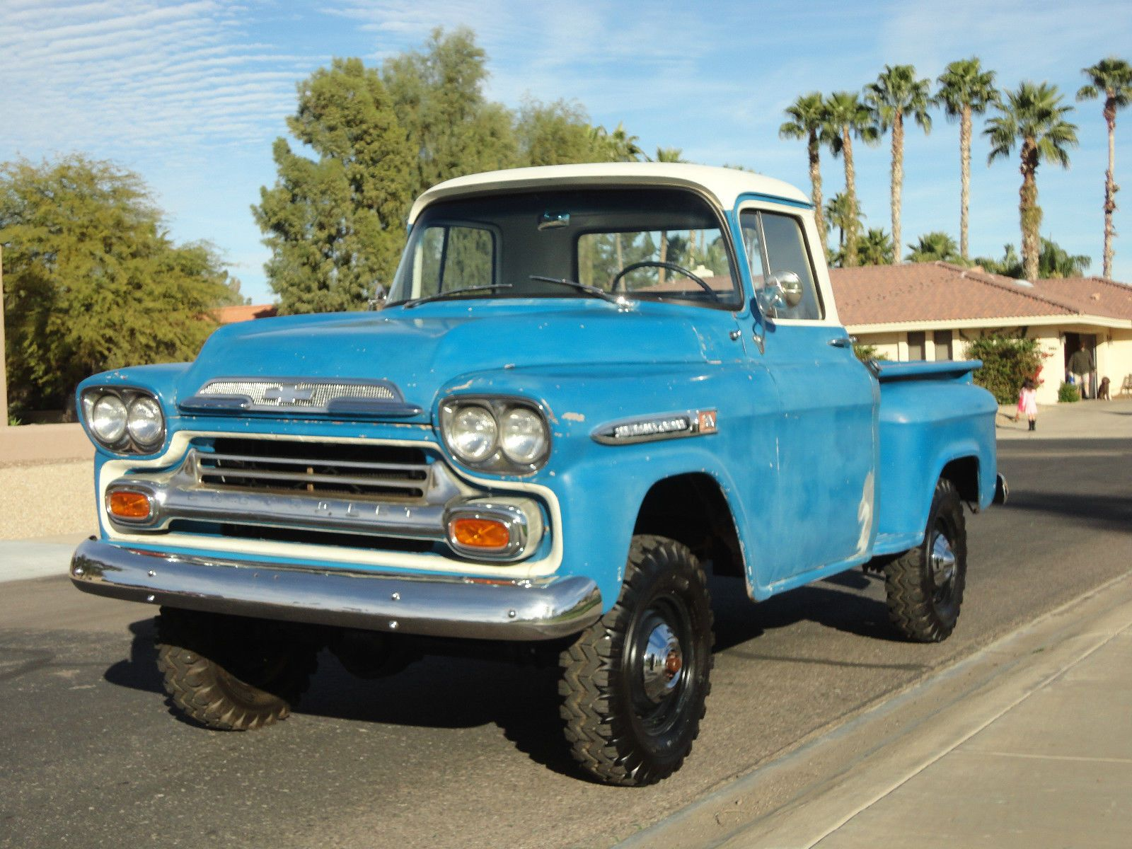 1959 Chevy 1 2 Ton Shortbed Napco 4x4 For Sale In Scottsdale Arizona United States Vintage Trucks Chevy Chevy Trucks For Sale Chevy Trucks