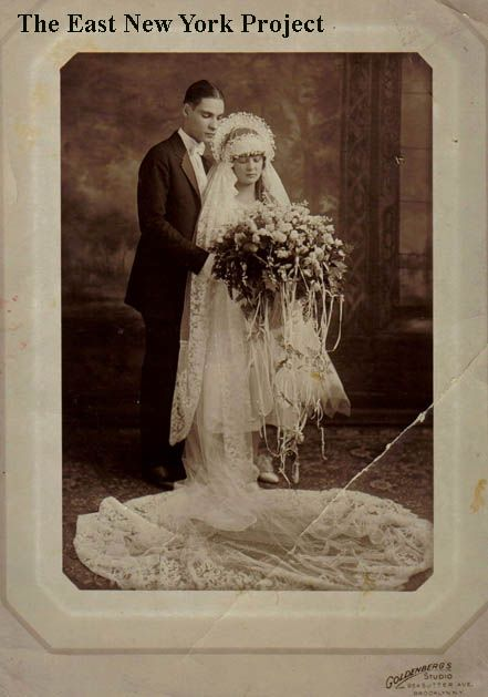 1920 bride and groom.