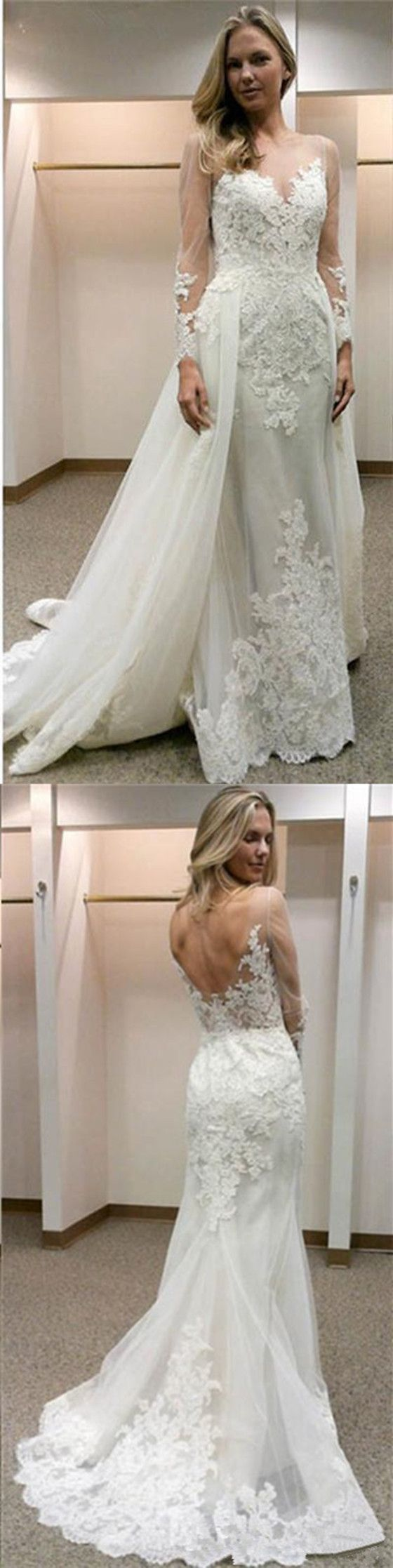 Aline tulle mermaid bakcless appliques openback simple long