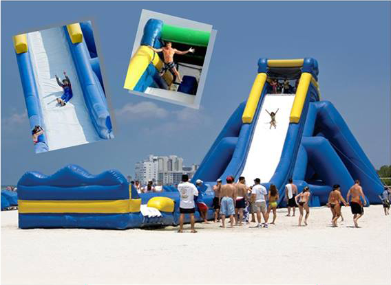 Hippo water slide - Tallest Inflatable water slide All