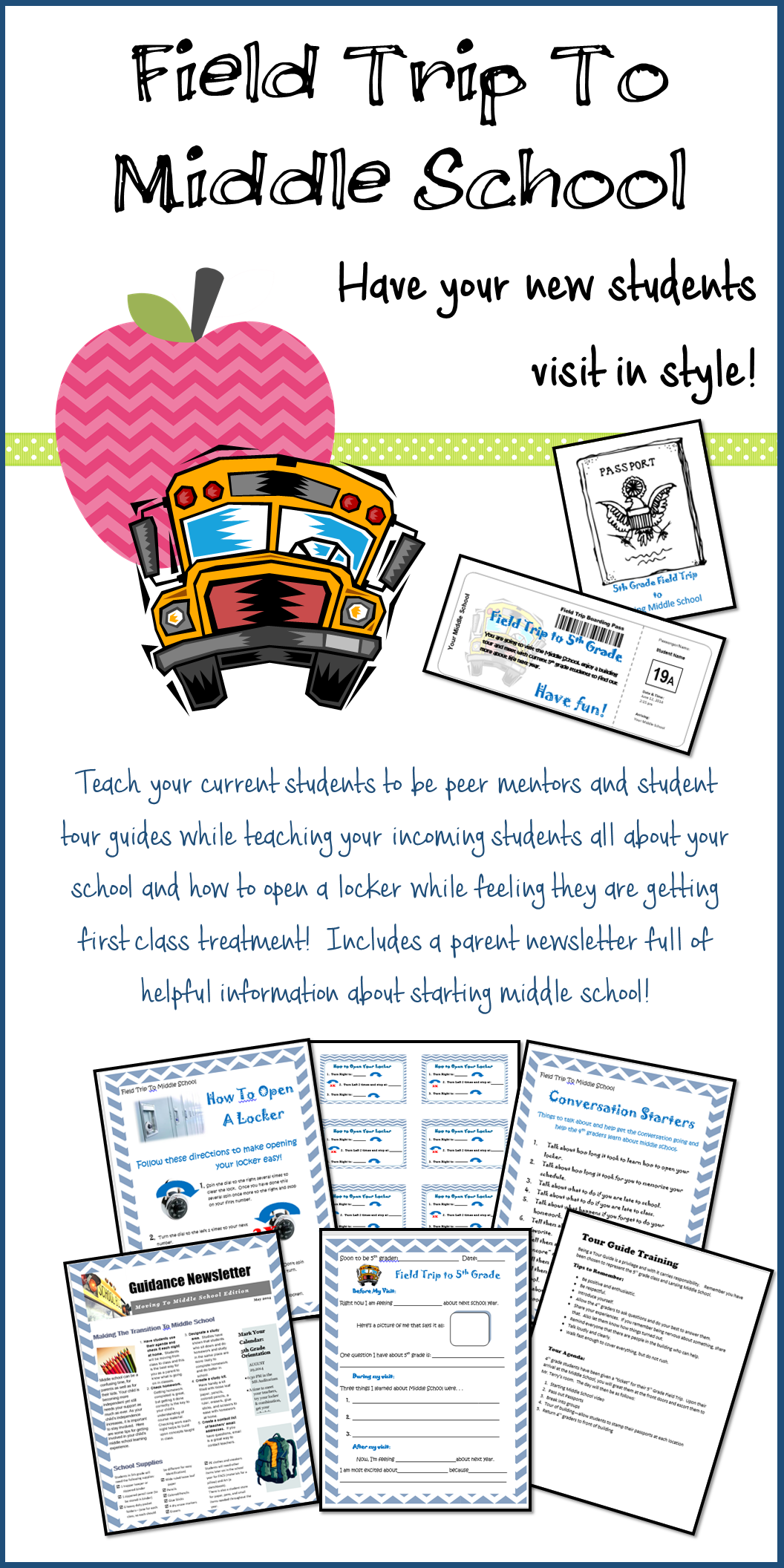 field trip to middle school transition and tour program | middle
