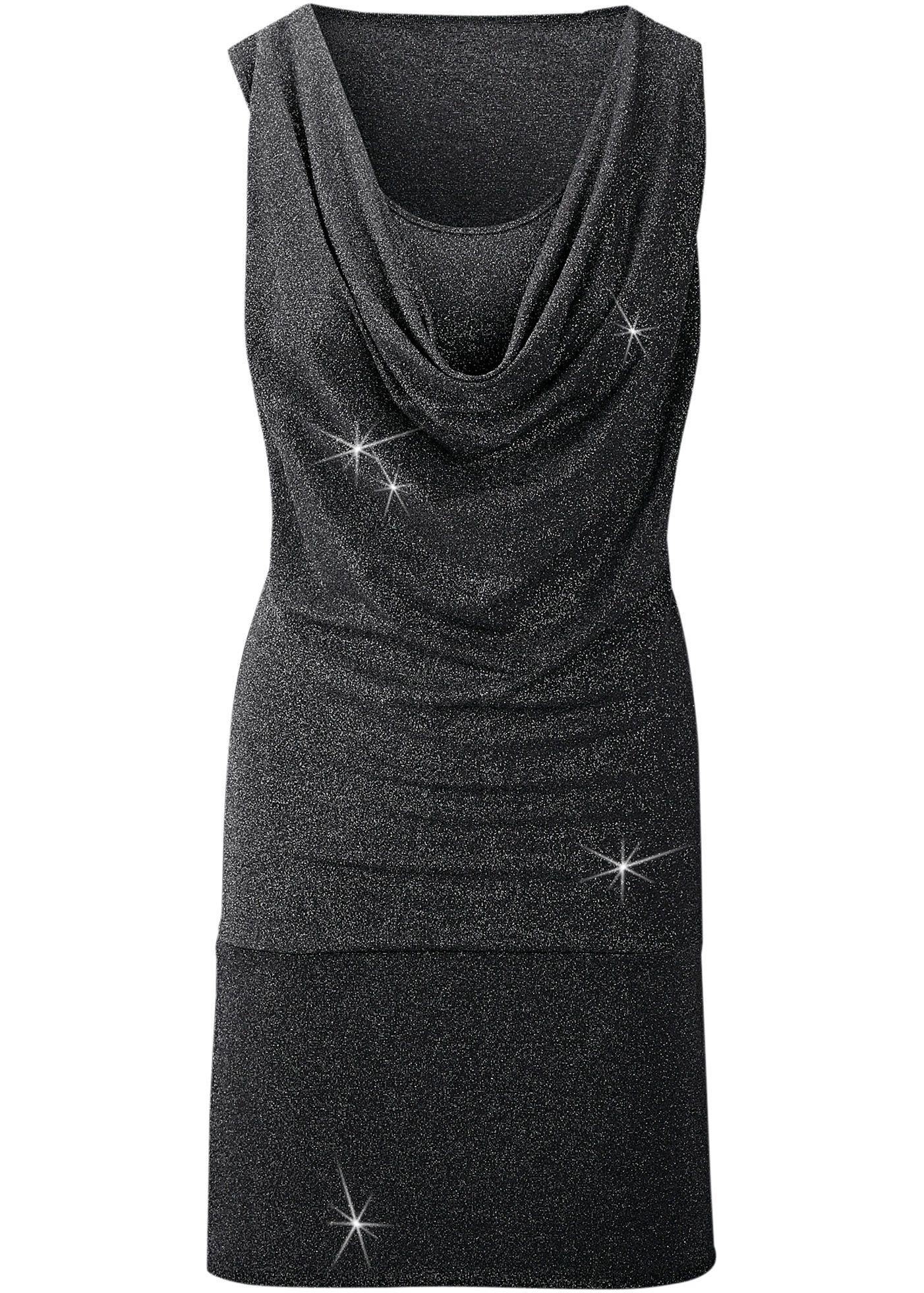 Платье черный/серебристый - BODYFLIRT заказать онлайн - bonprix.ru