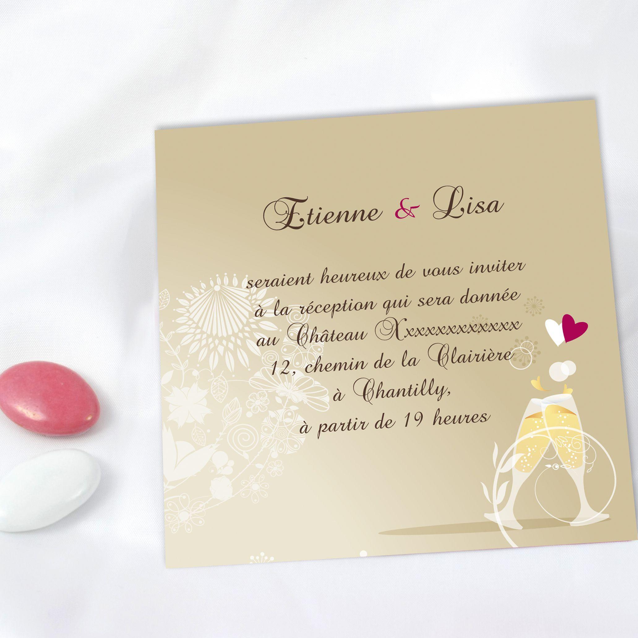 carte invitation mariage new modele de