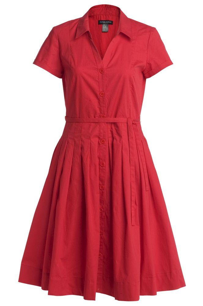 149c63fc0 Ellos Classic Woman Rød Kjole | My wardrobe - dresses | Dresses ...