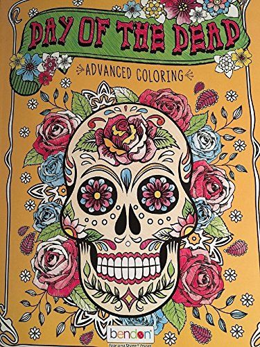 Day Of The Dead Advanced Adult Coloring Book by Bendon https://www ...