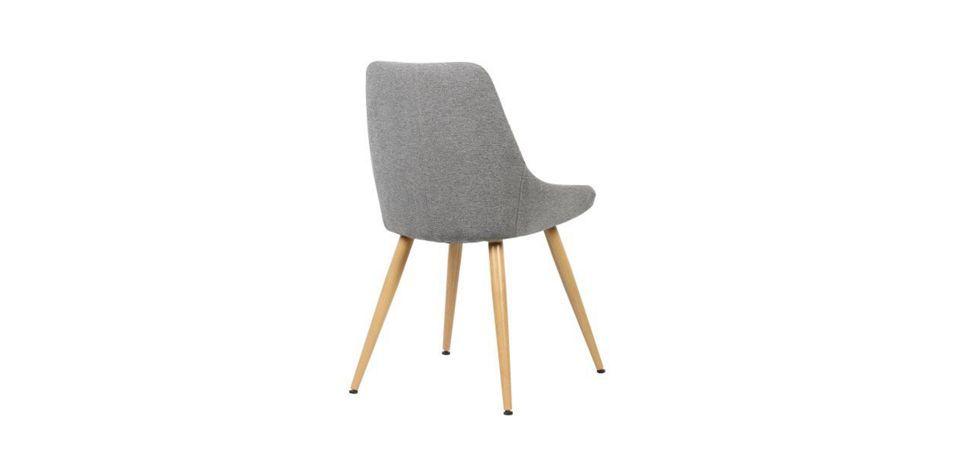 Stuhl Simone - Hellgrau\/Braun, MODERN, Textil\/Metall (48\/85\/55cm - design schaukelstuhl beton paulsberg
