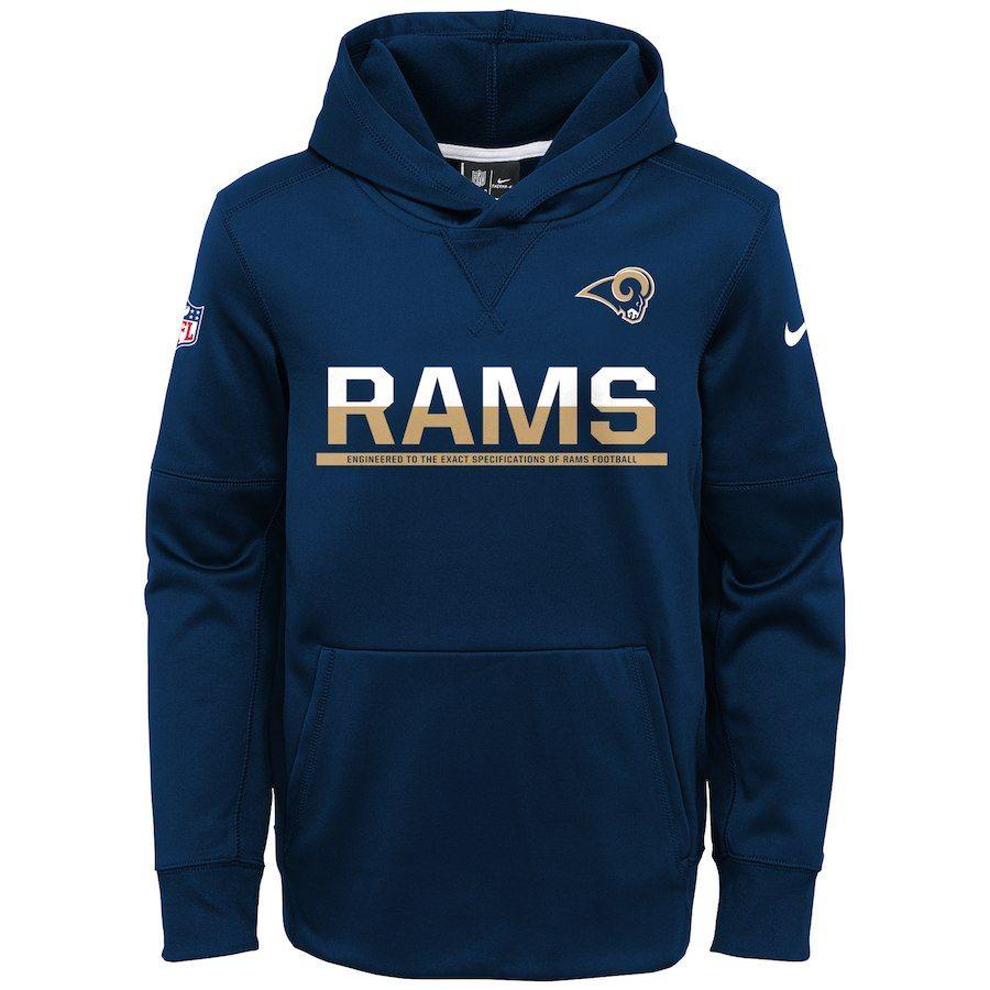 Youth Nike Navy Los Angeles Rams Circuit Pullover Performance Hoodie Performance Hoodie Sports Sweatshirts Atlanta Falcons Nike