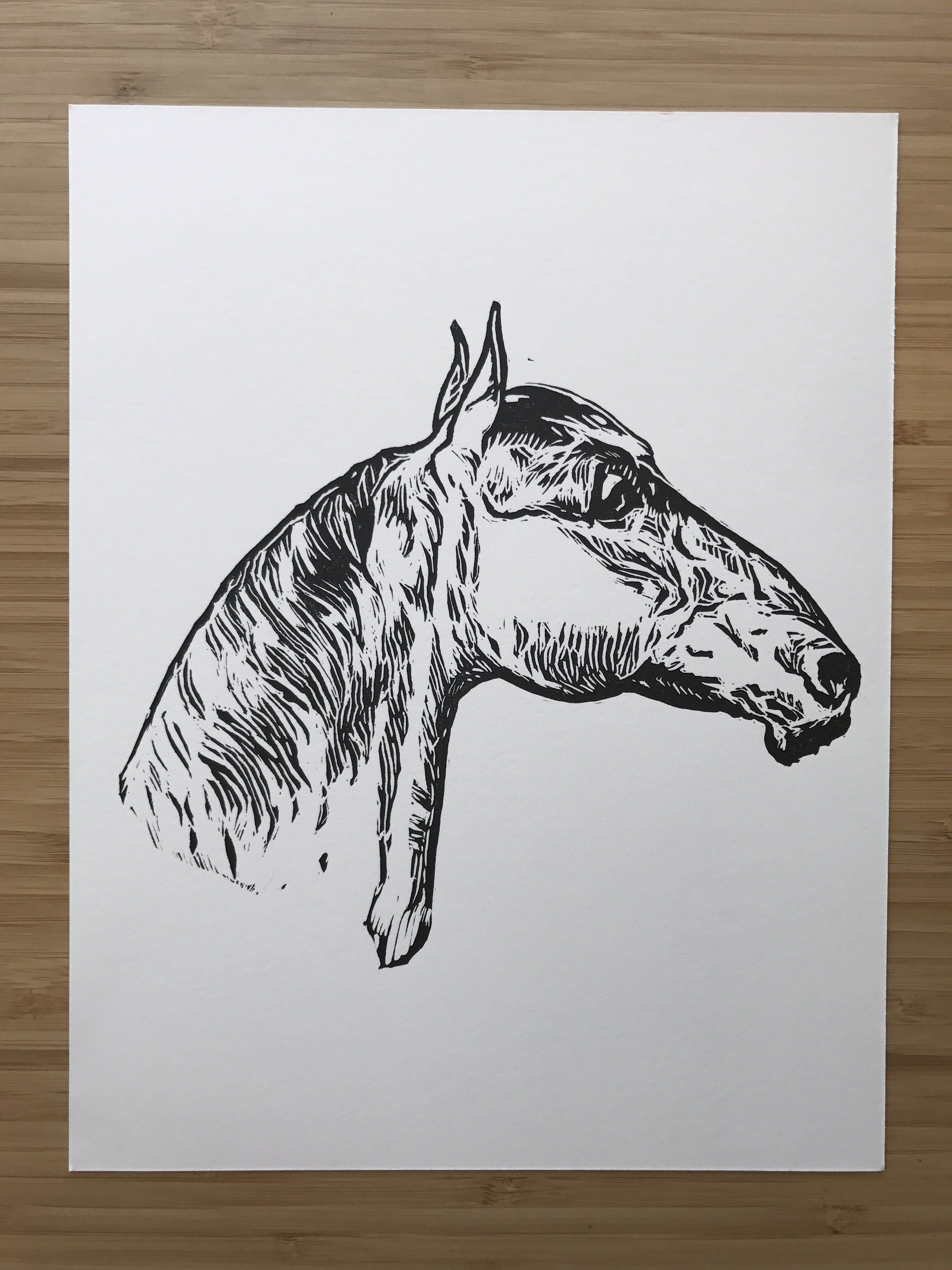"8/"" X 10/"" unframed Original Horse Print Limited New. Peace Saying"