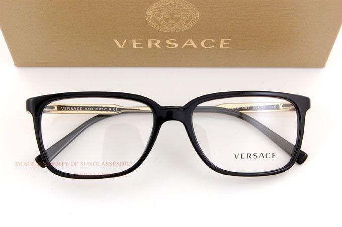 brand new versace eyeglasses frames 3209 gb1 black 100