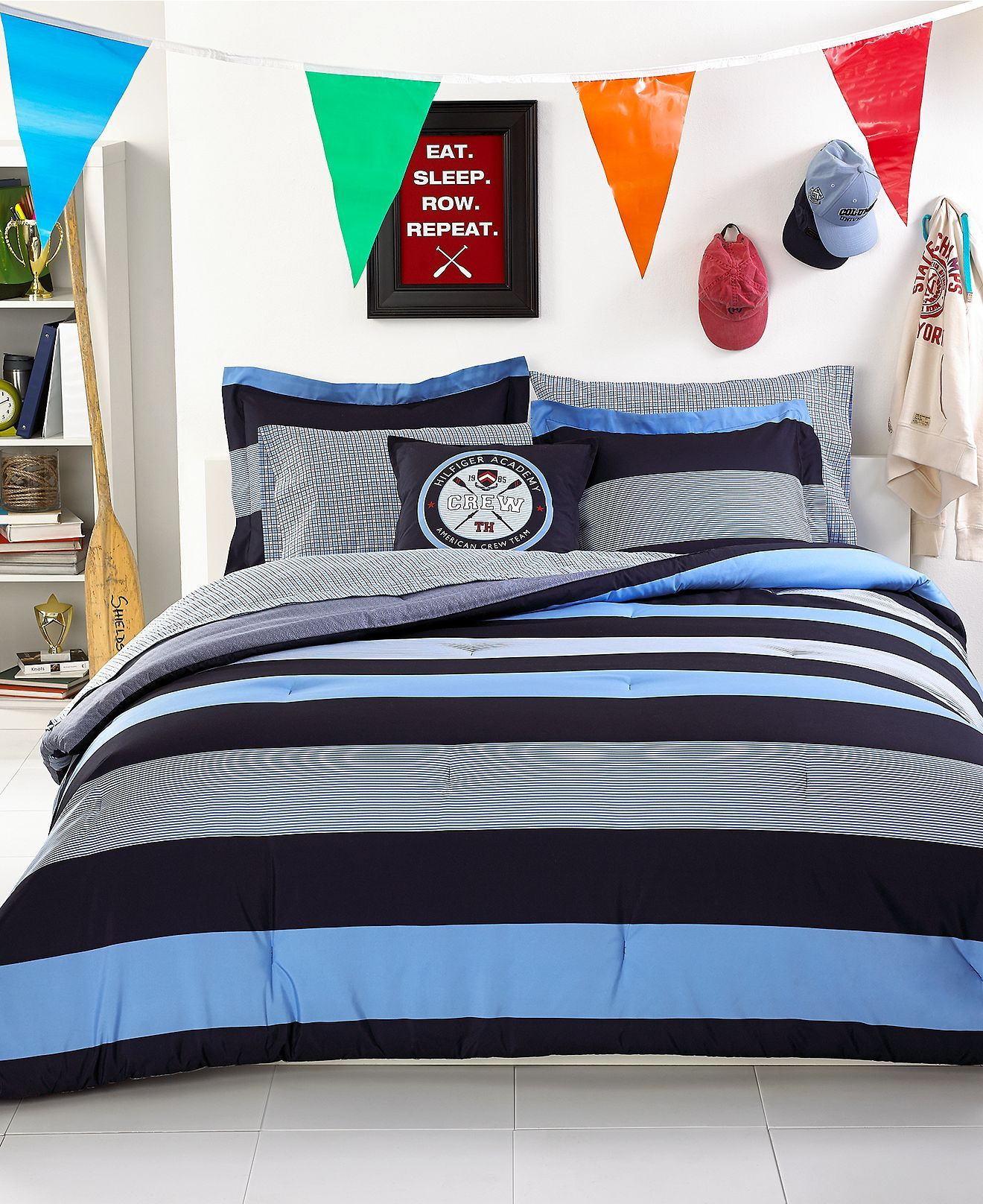 Tommy Hilfiger Bedding Wyndham Rugby forter Sets Bed in a Bag