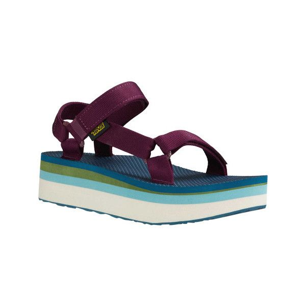 4729dadd8145 Women s Teva Flatform Universal Retro Sandal - Grape Wine Casual ( 60) ❤  liked on