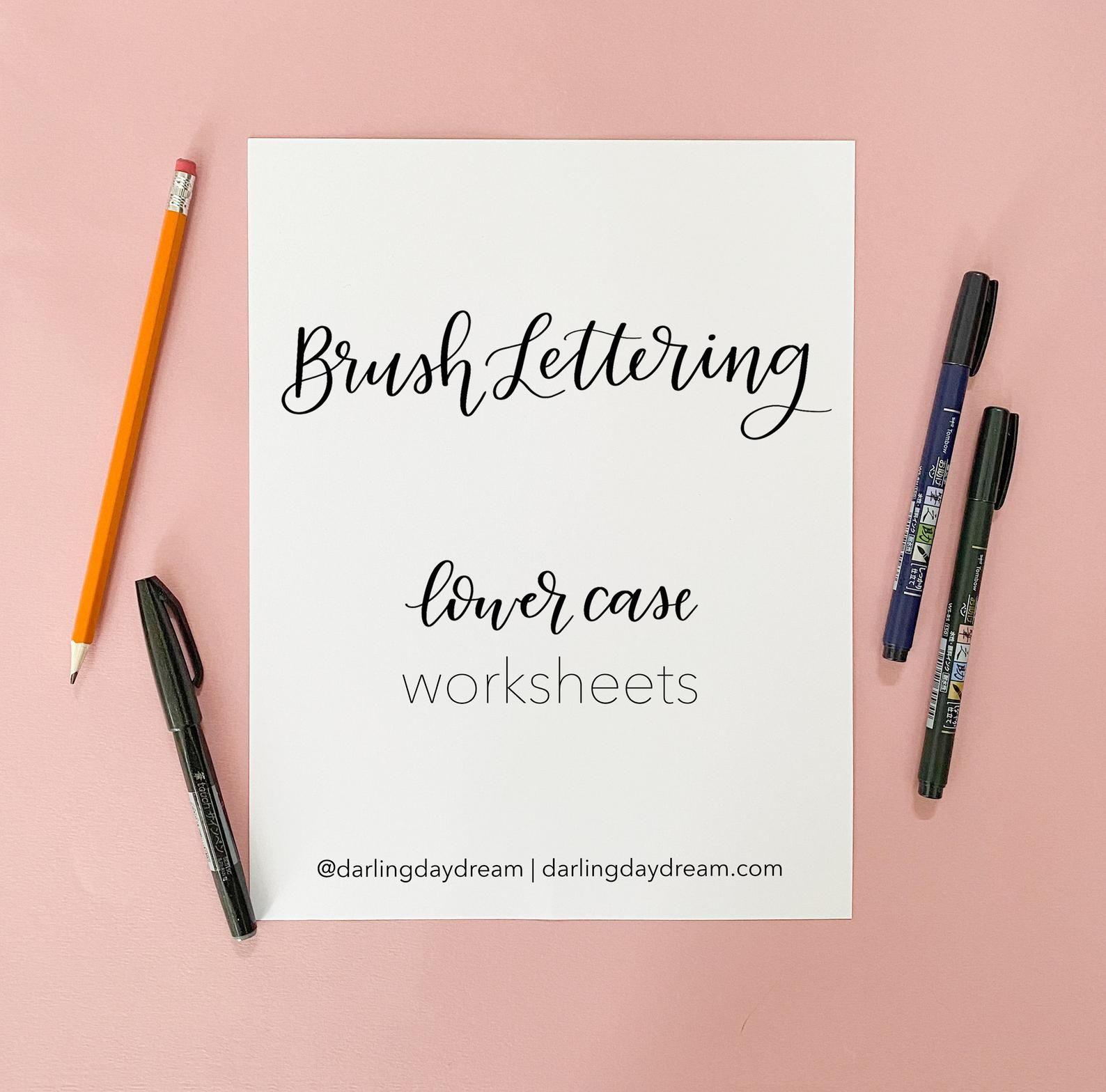 Digital Download Brush Lettering Workbook Lower Case Lower Etsy In 2020 Hand Lettering Worksheet Hand Lettering Practice Sheets Hand Lettering Practice [ 1568 x 1588 Pixel ]