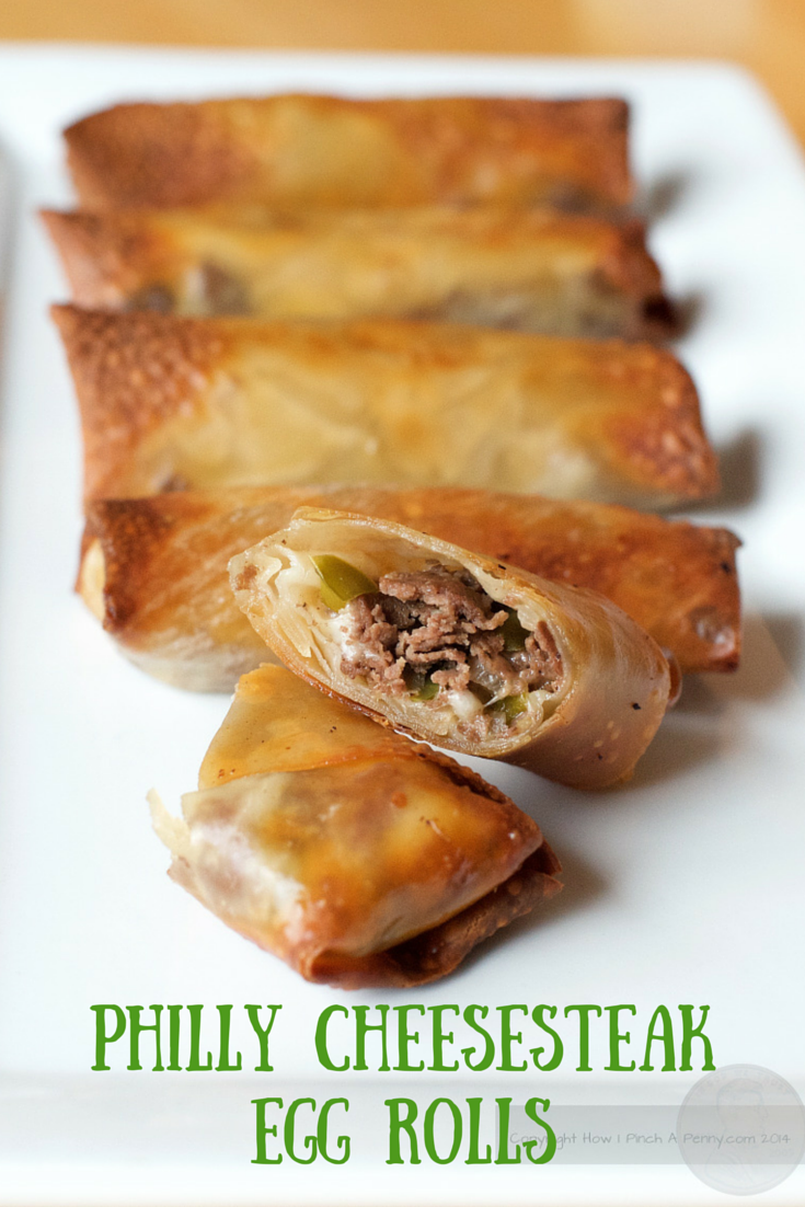 Philly Cheesesteak Egg Rolls from made