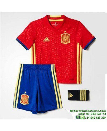 668e7fccde264 conjunto niños ESPAÑA EUROCOPA 2016 ROJO camiseta pantalon medias Adidas  Oficial AA0824 futbol FEF H SMU