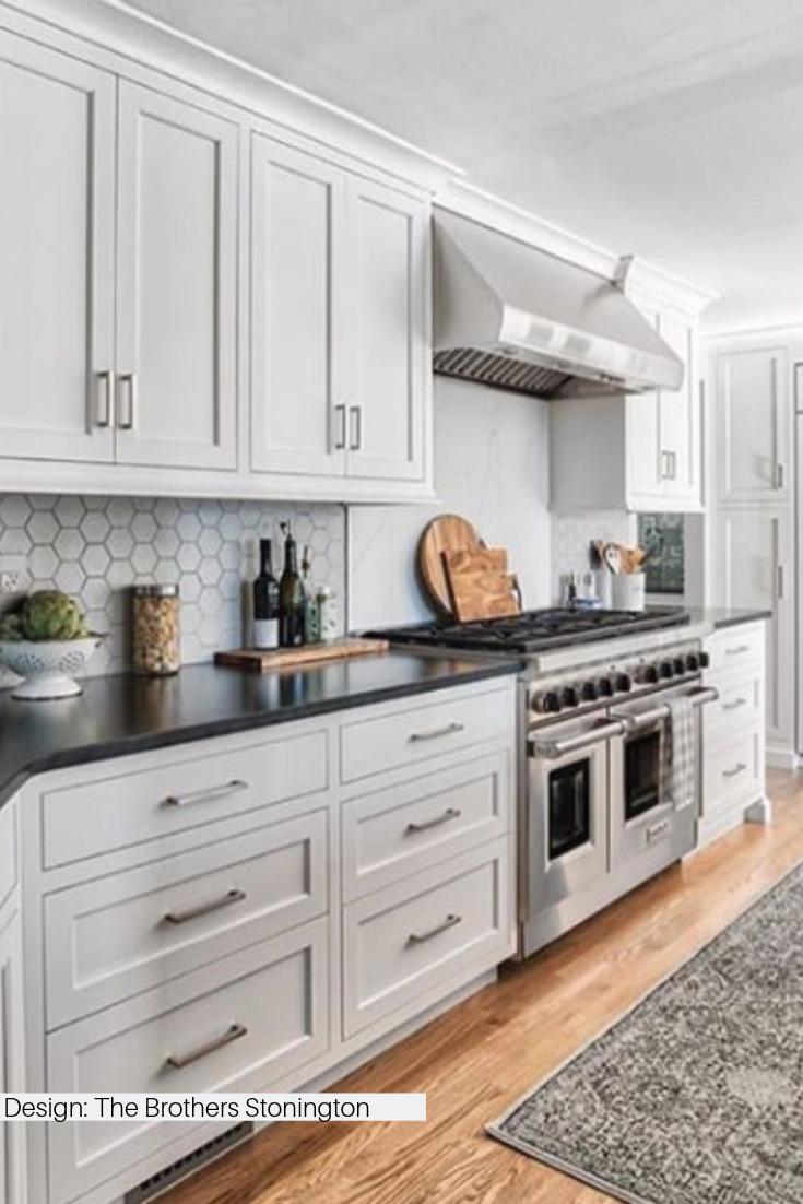 Exagoni Puro Perla Matte Ceramic Wall Tile Kitchen Interior