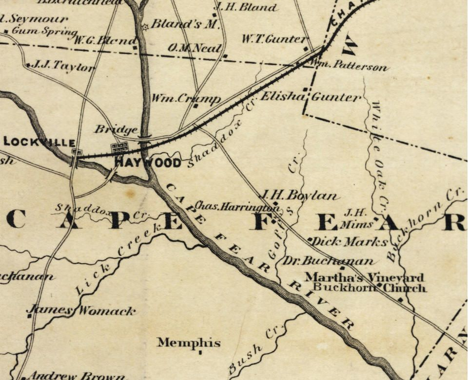 Haywood Nc \the Loss Of A Town\ The Area Where Deep And: Map Of Chatham County Nc At Slyspyder.com