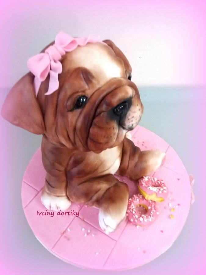 Tier Bulldog Cake