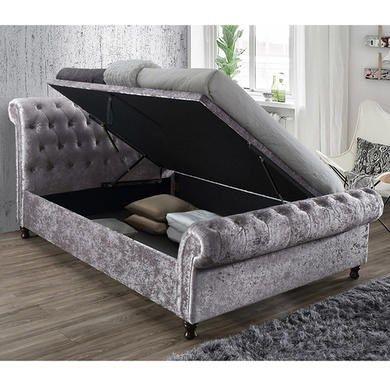 Birlea Castello Upholstered Steel Side Ottoman Super ...