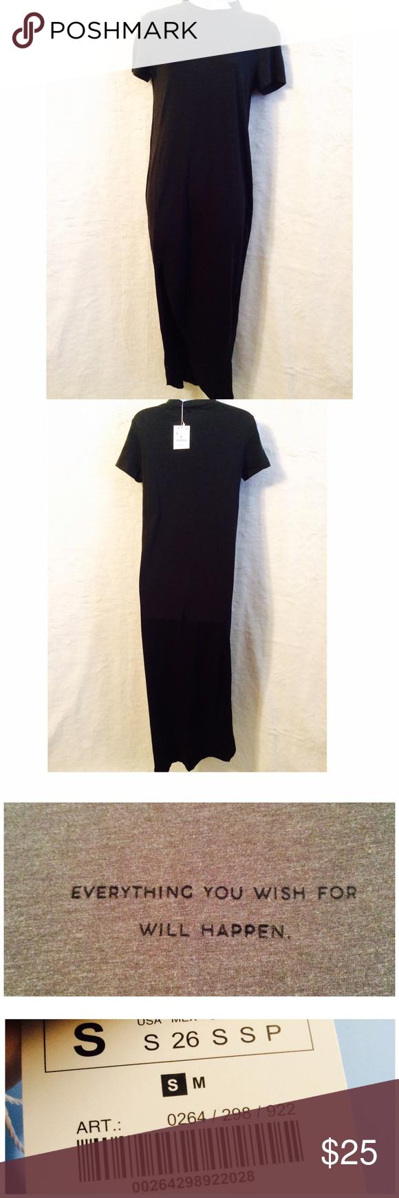 Zara black t shirt dress zara black zara dresses and maxi dresses