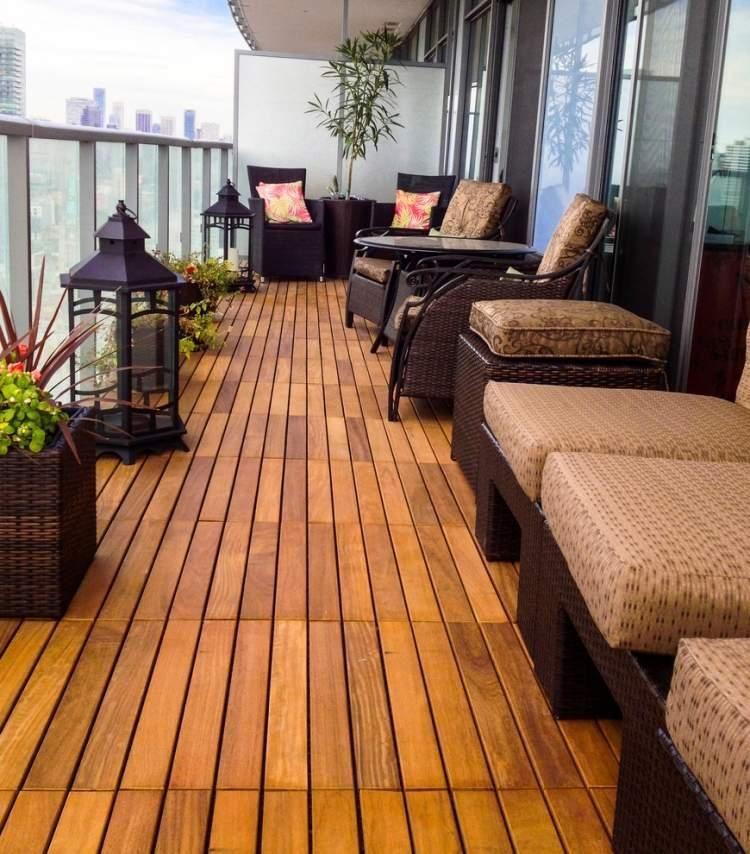 Holzboden 50 Ideen Fur Den Balkon Bodenbelag Balcony Ikea