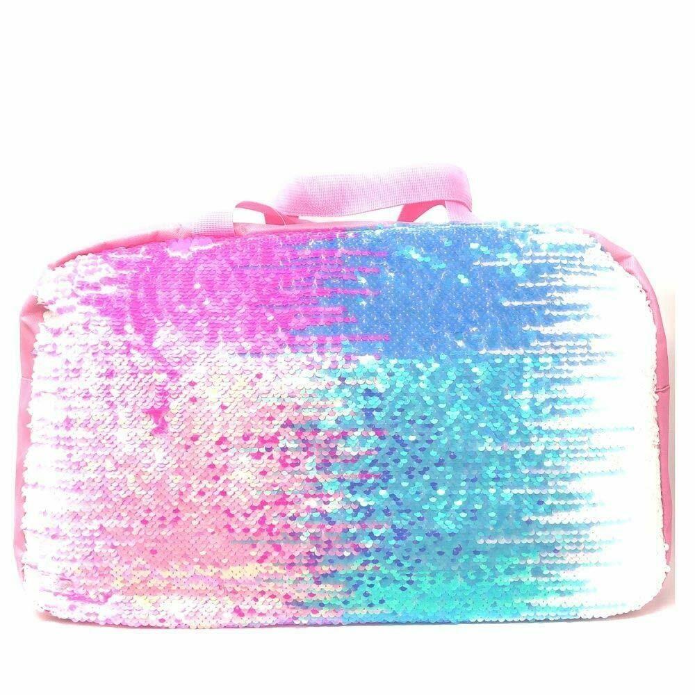 Unicorn Backpack w//detachable Lunch Bag 3D Horn /& Ears Aqua//Pink
