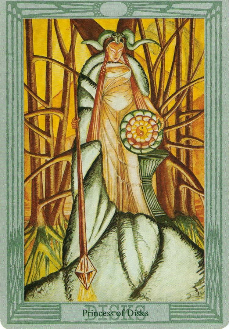 Thoth Fortune Tarot Card Tutorial: Princess Of Disks, Book Of Thoth Tarot (Aleister Crowley