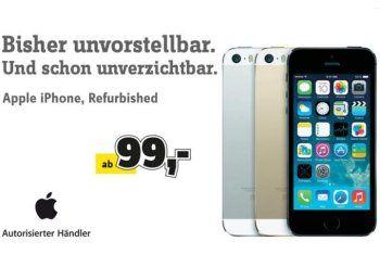 Conrad: Generalüberholte iPhones ab 99 Euro https://www.discountfan.de/artikel/tablets_und_handys/conrad-generalueberholte-iphones-ab-99-euro.php Generalüberholte iPhones sind ab sofort bei Conrad zu Preisen ab 99 Euro zu haben – im Angebot sind derzeit 17 Modelle. Mit einem Gutschein lässt sich der Preis um weitere 5,55 Euro drücken. Conrad: Generalüberholte iPhones ab 99 Euro (Bild: Conrad.de) Die generalüberholten iPhones bei Conr... #Handy, #Smartphone