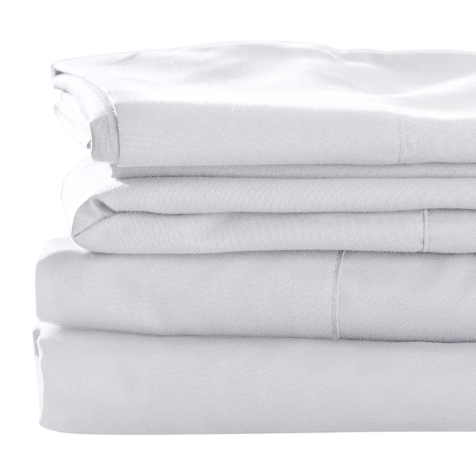 Blended Bamboo Sheet Set By Best Bamboo Bedding White Size Queen