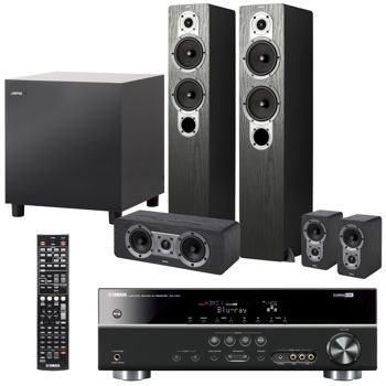 Costco Yamaha Rxv 371 5 1 Channel Receiver And Jamo Home Theatre