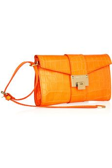 c7ae9a5b4a9 Cartera de Jimmy Choo en cocodrilo naranja. | bags | Jimmy choo ...