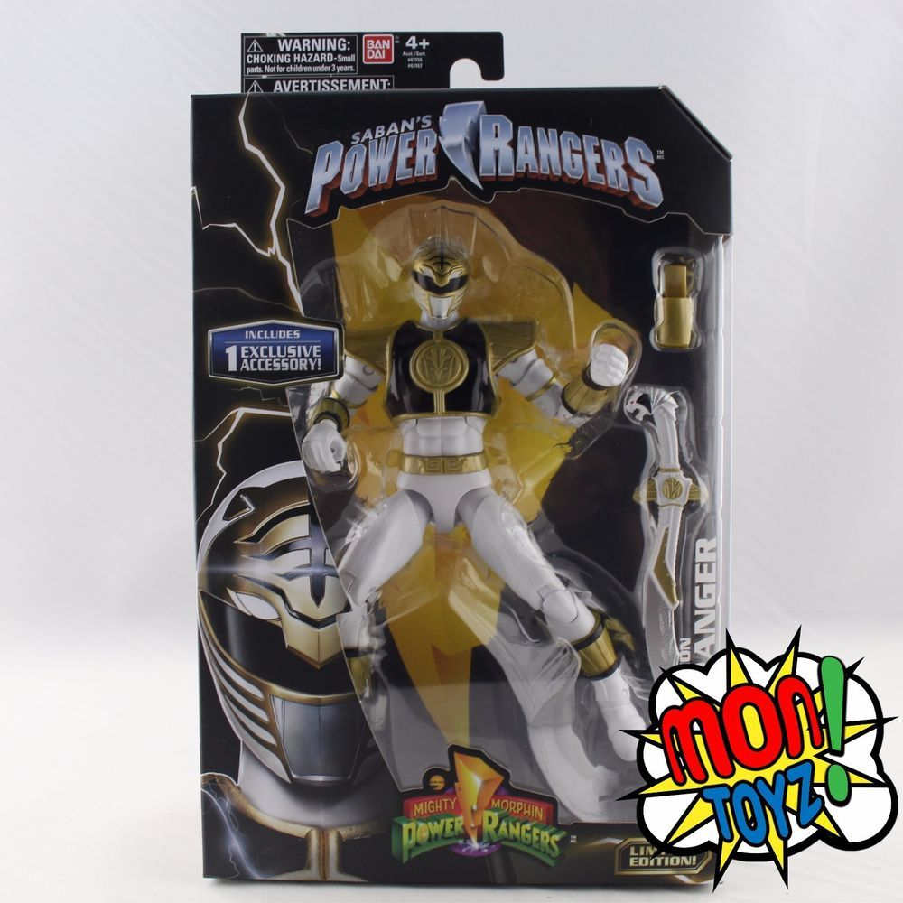 Mighty Morphin Power Rangers Legacy WHITE RANGER Bandai Action Figure Saban