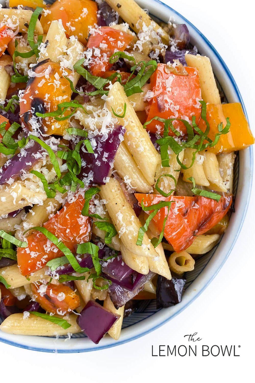 Grilled Vegetable Pasta - The Lemon Bowl® This qui