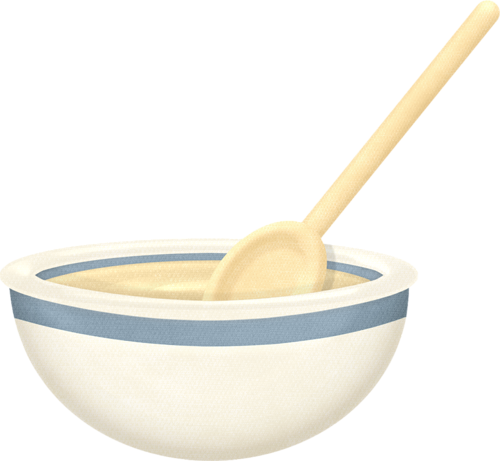 Mixing bowl and wooden spoon | Mutfak dekopaj | Pinterest ...