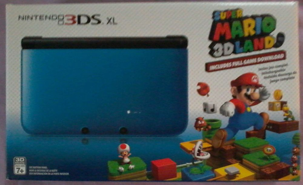 BRAND NEW - Nintendo 3DS XL Console with Super Mario 3D Land BLUE / BLACK #Nintendo