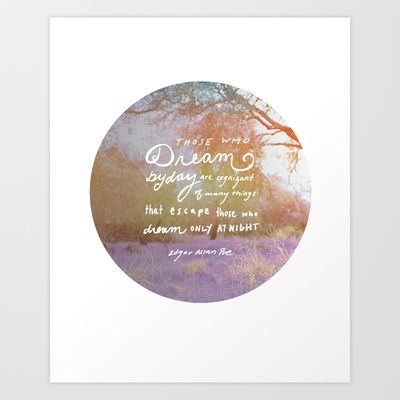 Those who dream Art Print by Holly Press - $17.68