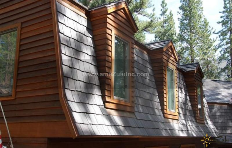 Best Faux Cedar Shake Tiles From Amazulu Inc Mansard Roof 400 x 300