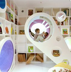 Kids Republic Bookstore 12 Combination of tight playful curves