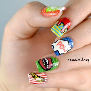 ssunnysideup: Pop art nail art
