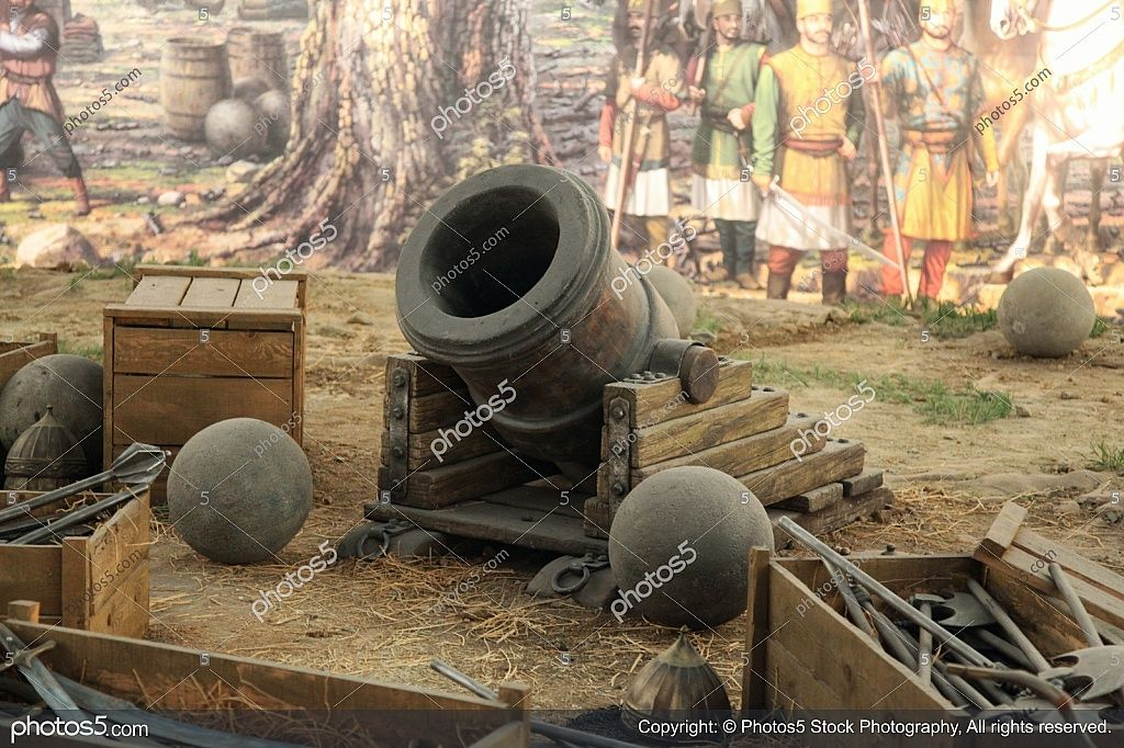 Ottoman Cannon At The Siege Of Constantinople Stock Photos