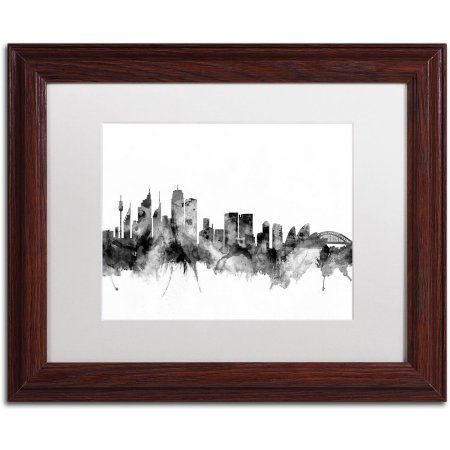 Trademark Fine Art Sydney Australia Skyline B Canvas Art By Michael