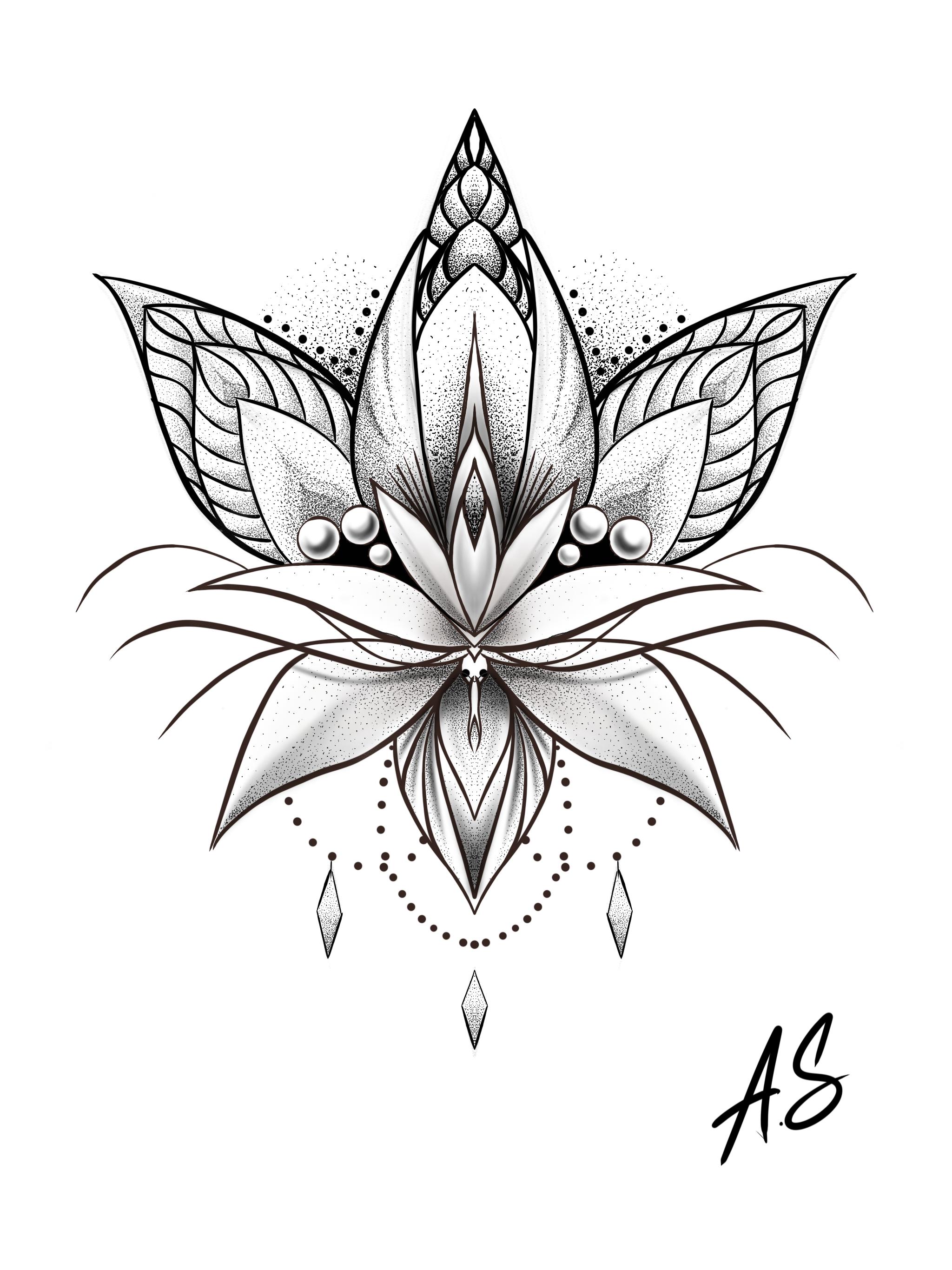 травы лотос цветок рисунок тату зрачок голубым