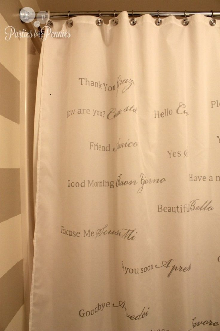 Italian Lessons On A Shower Curtain
