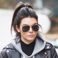 Kendall Jenner Made a Hooded Sweatshirt Totally Chic